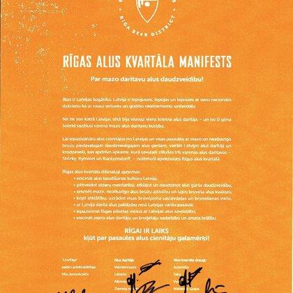 Alus kvartāla manifests